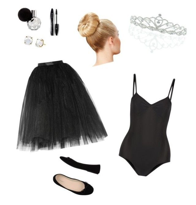"""Black Swan costume"" by marykiourtzoglou ❤ liked on Polyvore featuring Bagatt, Ballet Beautiful, Kate Marie and Lancôme"