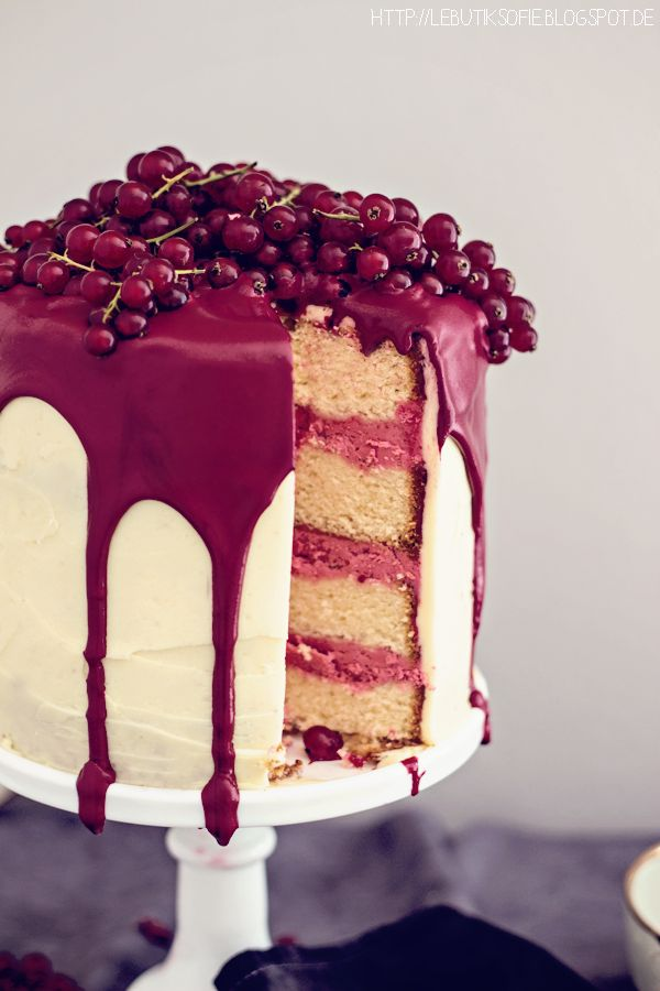 citrus currant butter cream cake