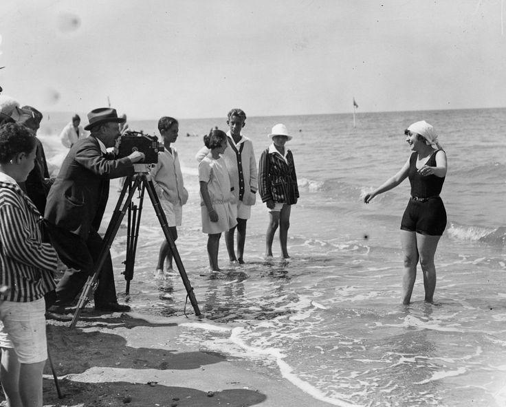 Having fun at Venice Beach, California in 1920. | Venice