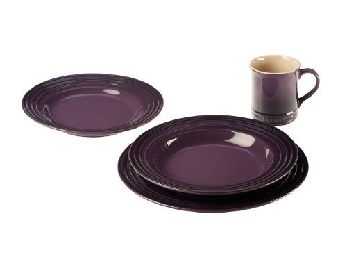 17 best images about purple dinnerware sets on pinterest for Kitchen dish sets