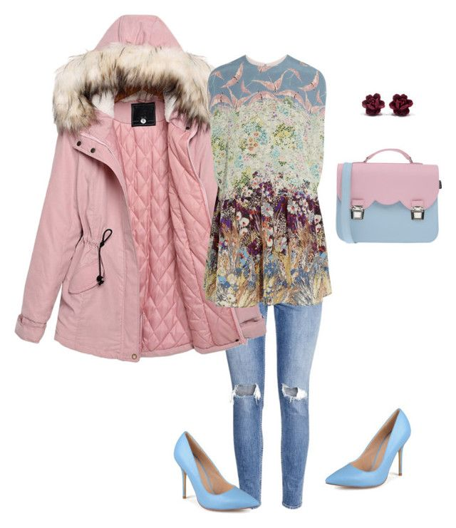 """Blue&pink"" by valeria-verde on Polyvore featuring H&M, Journee Collection, La Cartella, Valentino, women's clothing, women's fashion, women, female, woman and misses"