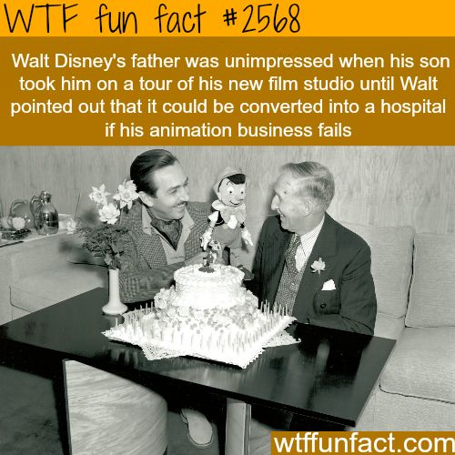 Walt Disney's father, Elias Disney -WTF funfacts