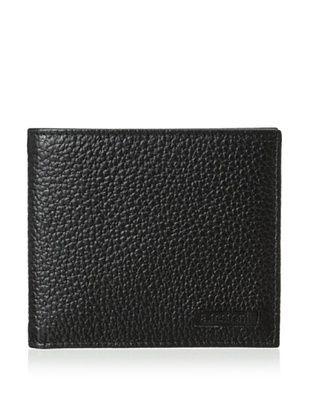 a.testoni Men's Old Karibu Calf Wallet, Nero, One Size