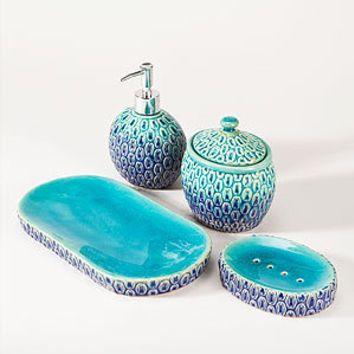 Peacock Bath Accessories   Bathroom  Bed & Bath   World Market