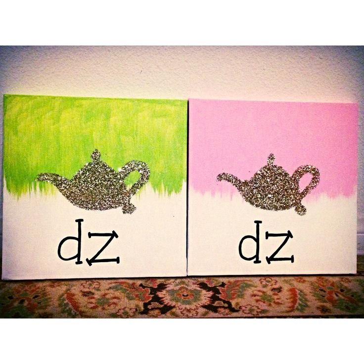 Inspired by an AXΩ canvas using the Delta Zeta lamp! I couldn't resist! Gifts for my grandlittles and great-grandlittle! #deltazeta #dz
