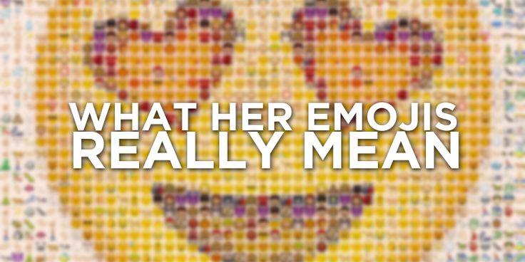 Emoji sentence meanings
