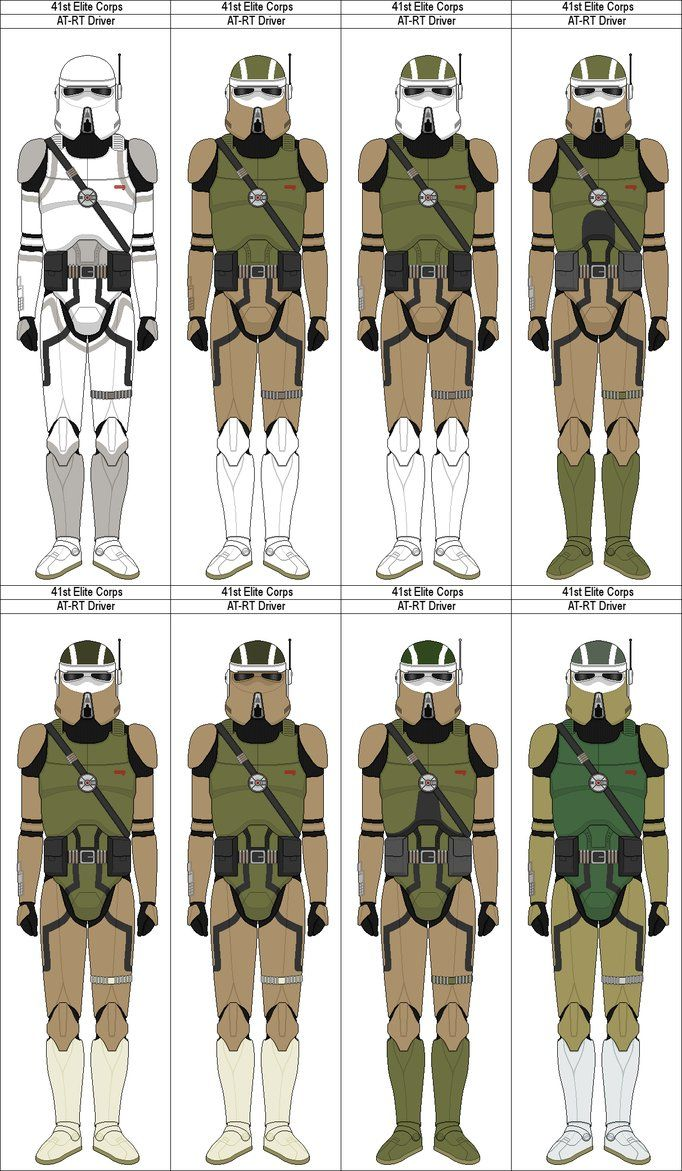 41st Elite Corps AT-RT Drivers by MarcusStarkiller