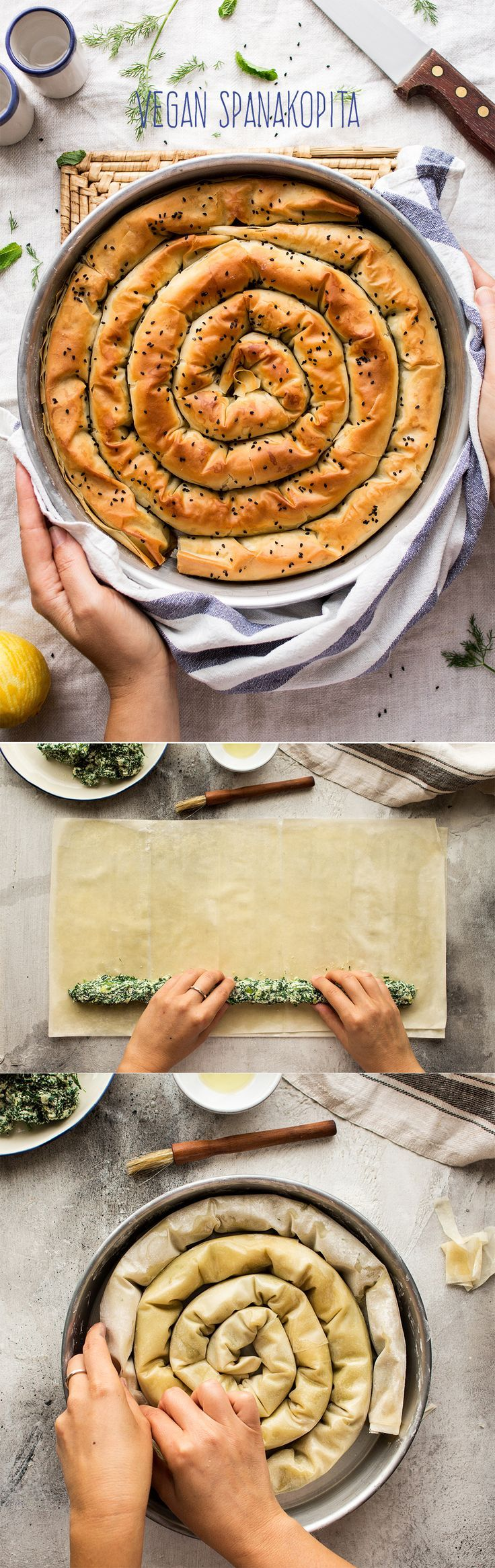 #vegan #greek #spanakopita #easy #dairyfree #spinach