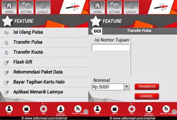 Cara Mudah Transfer Pulsa Simpati As Telkomsel.Dimana antar sesama pengguna Telkomsel kartu Simpati dan Kartu As dapat dengan mudah melakukan transfer pulsa