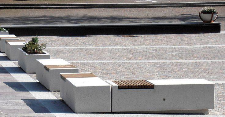 Indoor bench / public / contemporary / engineered stone - DEMETRA - BELLITALIA
