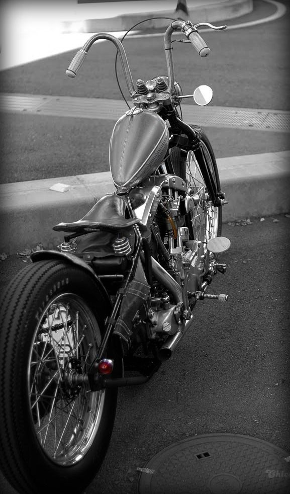 I would love to see this Harley Davodson Chopper in colour.....