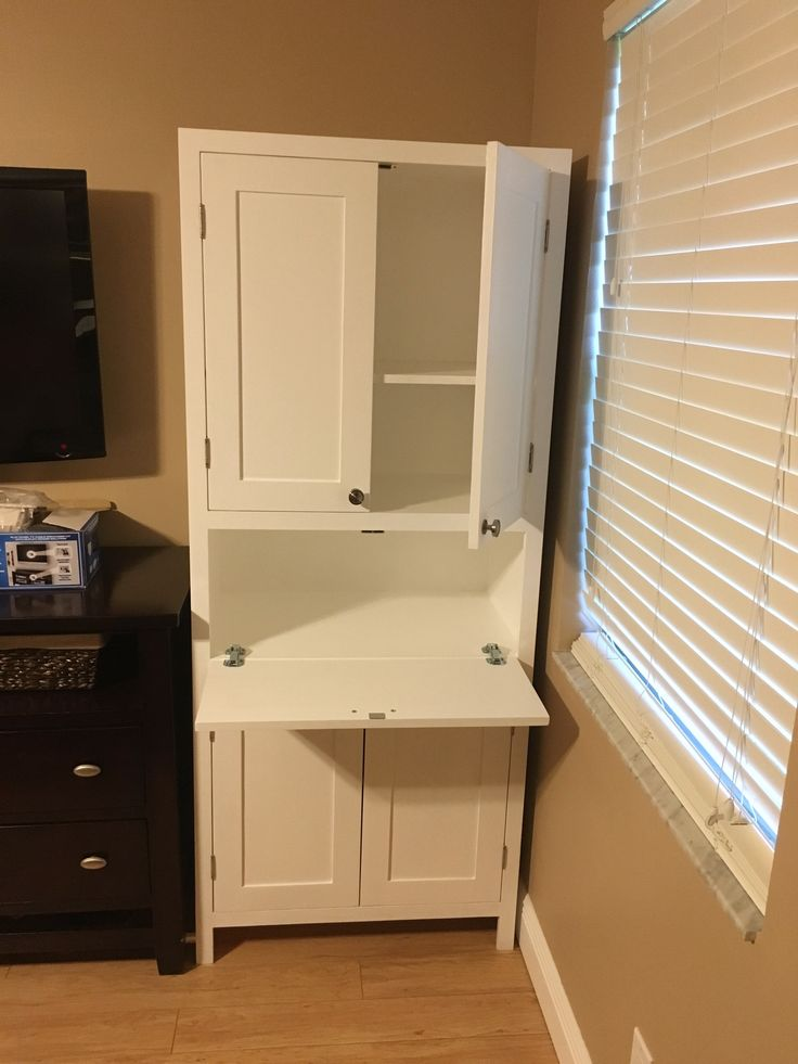 Secretary Desk And Storage Cabinet Diy Living Room