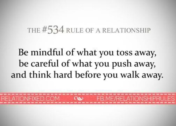 #534 Rule of. relationship