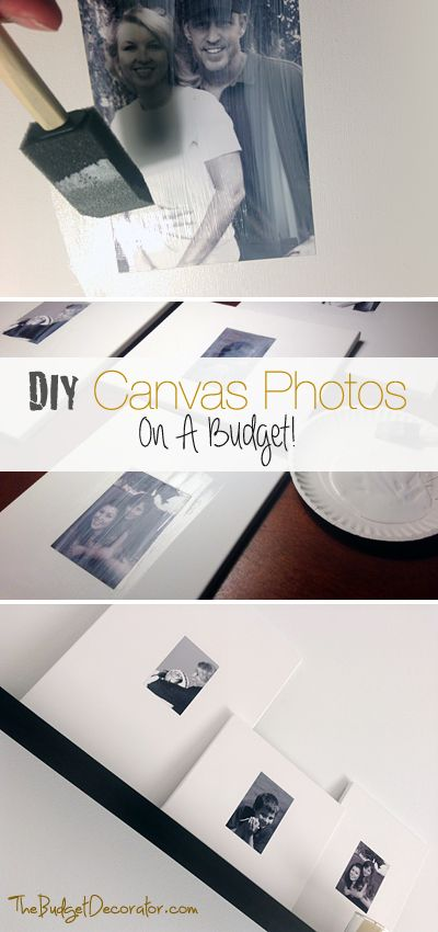 DIY Canvas Photos on a budget • Simple Tutorial explaining how to make these super inexpensive canvas photos!