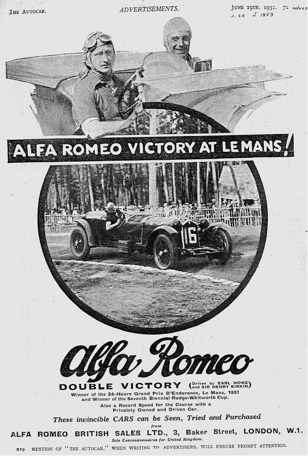 Alfa Romeo Ad - Victory at LeMans