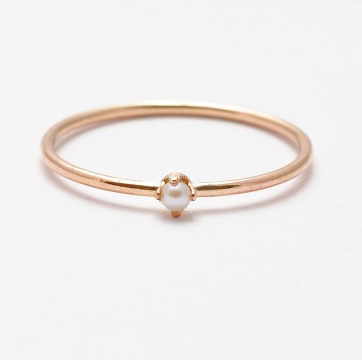 Pearl Ring: Rose Gold Pearl Rings, Gifts for Women by BlueRidgeNotions on Etsy https://www.etsy.com/listing/150854726/pearl-ring-rose-gold-pearl-rings-gifts