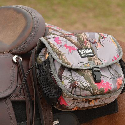 Cashel® Deluxe Saddle Bags have padded insulated pockets with an organizer pocket.