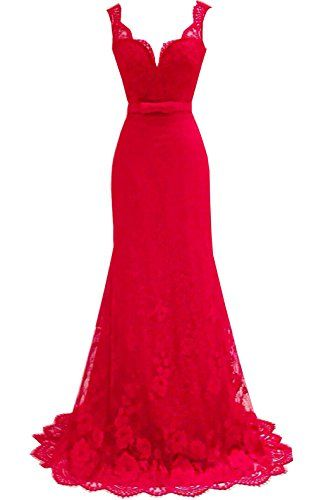 Sexy Womens Lace Long Evening Ball Gown Formal Bridesmaid Cocktail Party Dress (US 6, Red) If Beauty http://www.amazon.com/dp/B01AW33YBG/ref=cm_sw_r_pi_dp_gDUOwb0BKE8EX