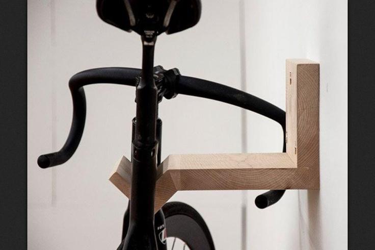 Wood Wall Bike Stand