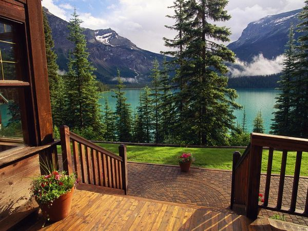 I am inspired...Emeralds Lakes, Cabin, Canada, The View, Front Doors, National Parks, Lodges, Front Porches, British Columbia