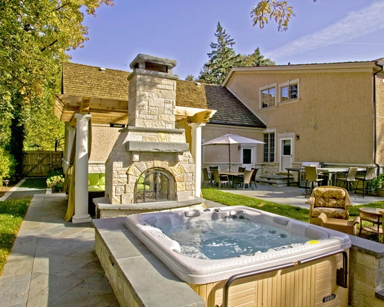 Hot Tubs Design, Pictures, Remodel, Decor And Ideas   Page Rock Wall On.  Pool IdeasBackyard IdeasSpa ...