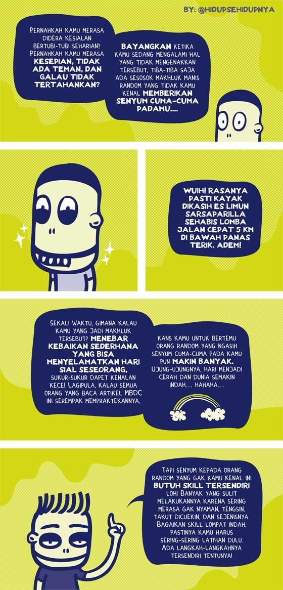 Mari Latihan Senyum Pada Orang Yang Tidak Dikenal! Bahasa Indonesia