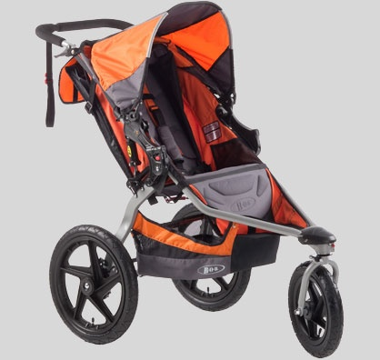 Love my BOB strollers!  These things can go anywhere.  I can push and steer with just one finger (if I have to).  One of these days I might even take up jogging and then this stroller will REALLY come in handy.