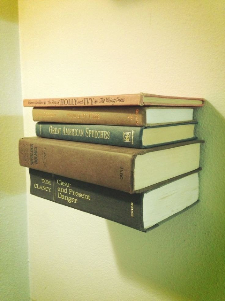 floating shelves books