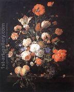 A Vase of Flowers 1706  by Rachel Ruysch