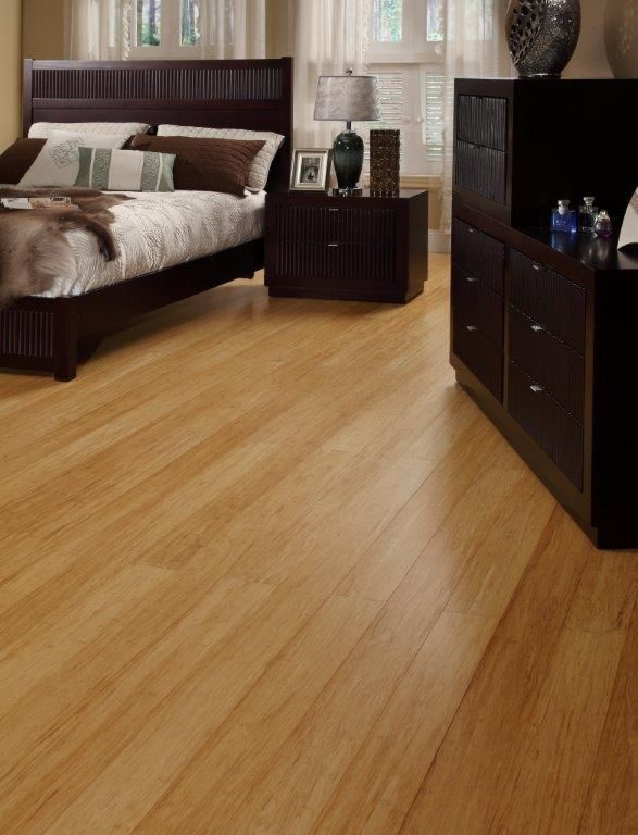 Strand Woven Bamboo Flooring Is Partially Shredded To