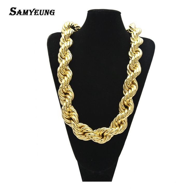 2017 Hiphop Gold Plated Chockers Necklaces for Male Chunky Necklace Neckless Best Friens Bliing Necklace Hip Hop Bling Jewelry