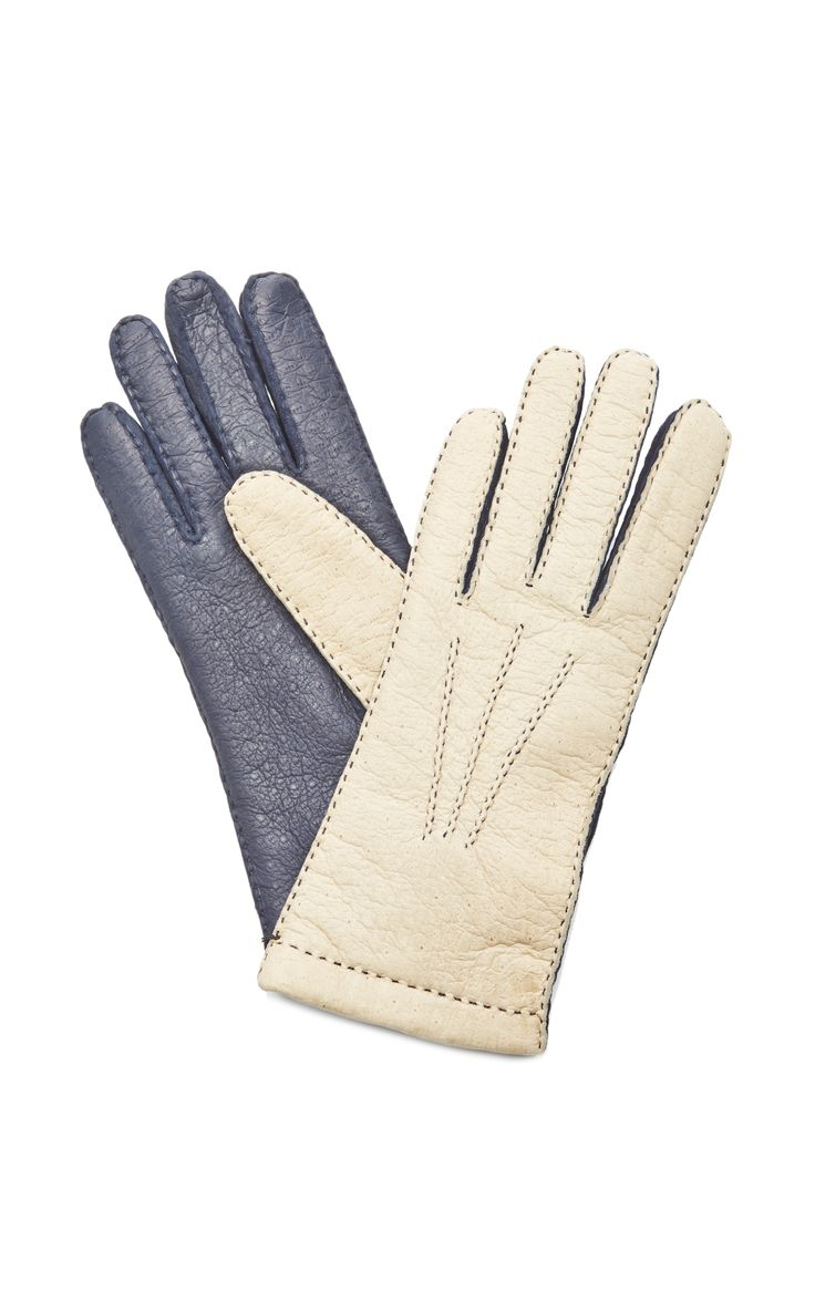 Womens leather gloves vancouver - Women S Two Tone Pecary Leather Gloves By Merola Gloves Moda Operandi