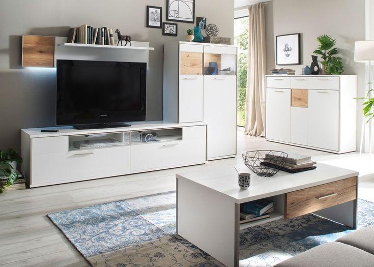 Die besten 25+ Wohnwand weiß matt Ideen auf Pinterest Klassische - h ngeschrank wohnzimmer wei