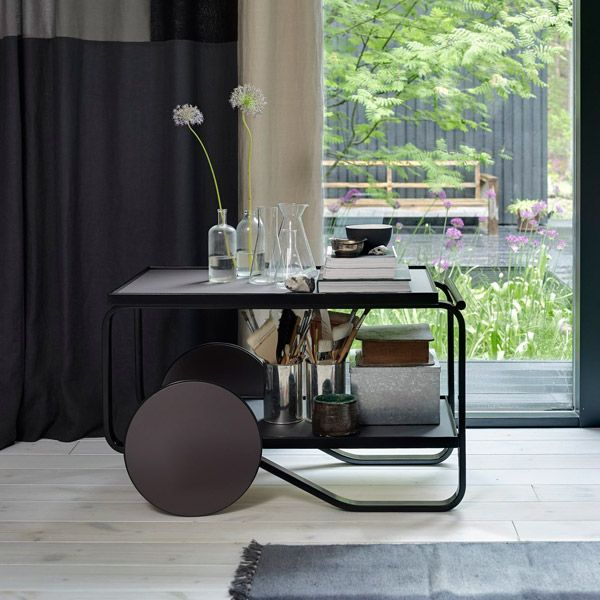 Artek Aalto tea trolley 901, black linoleum | Artek | Tables | Furniture | Finnish Design Shop