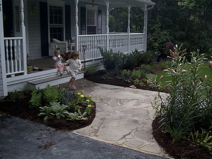 27 best images about landscaping on pinterest front for Front porch landscaping ideas