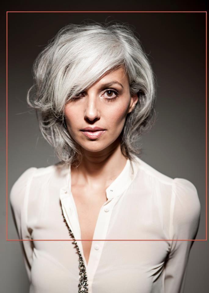 Short Natural Styles Gray Hair