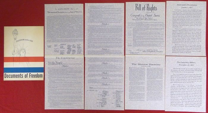 1964 Documents Of Freedom Declaration Independent Constitution Bill Of Rights FOR SALE    0223