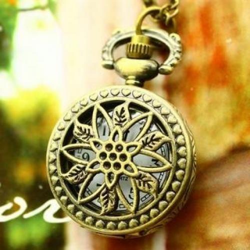Flower Pocket Watch