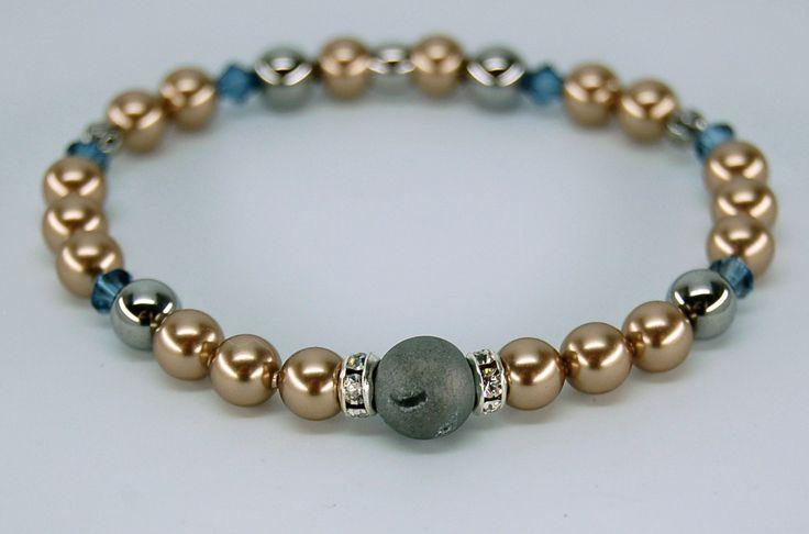 Bracelet élastique Bijoux acier inoxydable bijou chic urbain bracelet couleur tendance bijou cristal Création Cristal Ev. #Cassopeeel de la boutique CristalEv sur Etsy
