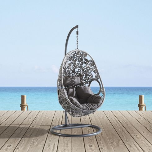 schicker h ngesessel in grau sorgt f r optimale entspannung garten pinterest modern. Black Bedroom Furniture Sets. Home Design Ideas