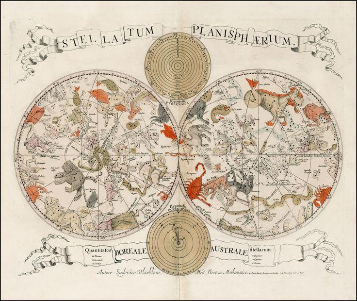 Louis Vlasbloem & Johannes Van Keulen,  Stellatum Planisphaerium, 1675.