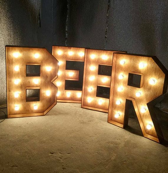 Bar Sign Lights Marquee Light Up Letters Bar For Wedding Beer Cafe Letters Eat Decor Wood Letters La Large Wooden Letters Marquee Letters Big Wooden Letters
