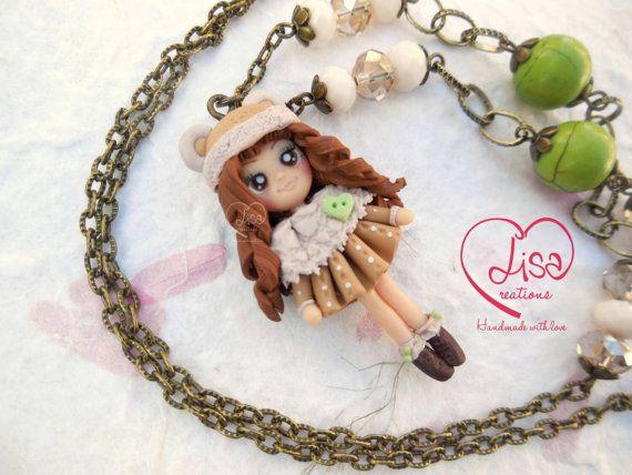 disponibile nel mio Etsy shop https://www.etsy.com/it/listing/257572424/collana-con-bimba-orsacchiotto-handmade