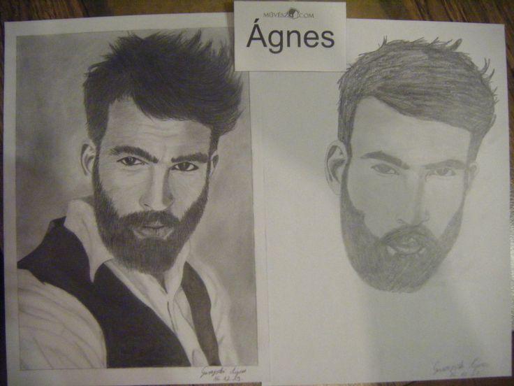 Garajszki Ágnes előtte-utána portréja