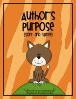 Author's Purpose Activity: Match the story idea cards to the correct Author's Purpose: To Inform or To Entertain. Then, use the writing paper to write either an Informational text or Entertaining Text. Information: Author's Purpose Center, Inform, Entertain