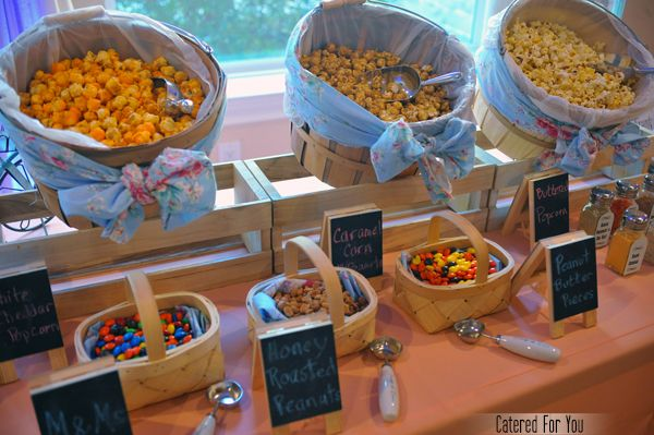 Fabrics baskets with handles for bags napkins etc - Table snack bar but ...