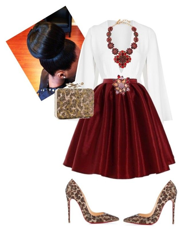 Church by cogic-fashion ❤ liked on Polyvore featuring Rare London, Oscar de la Renta, Jones New York and Christian Louboutin