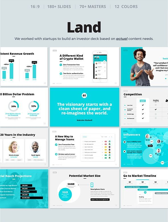 Land - Pitch Deck  Startup Powerpoint Template - PowerPoint