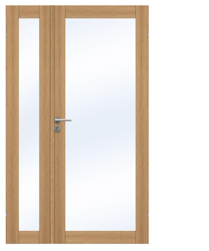Unique pardør i eik med ulik deling fra Swedoor
