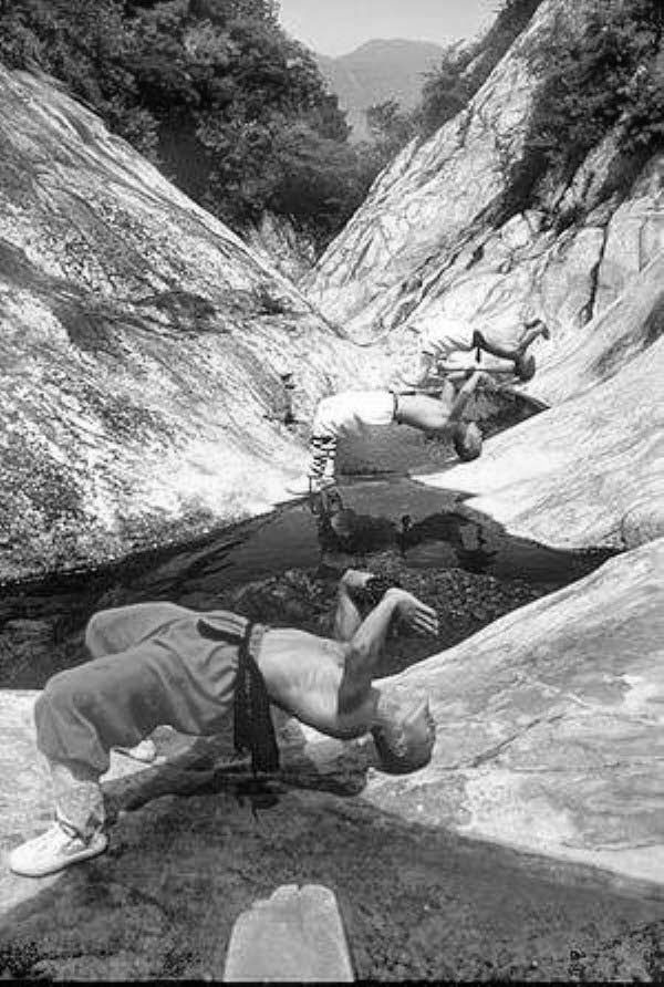 Shaolin Monks In Training